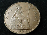 1930 GEORGE V ONE PENNY COIN HIGH GRADE
