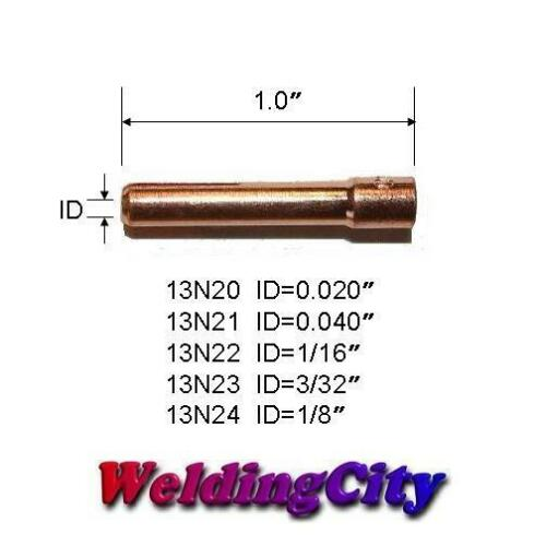 "1//8/"" Torch 9//20//25US Seller Fast Ship 10-pk TIG Welding Collet 13N24"