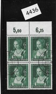 Nice-Used-stamp-block-1939-Venetian-Woman-Hitler-039-s-culture-fund-Third-Reich