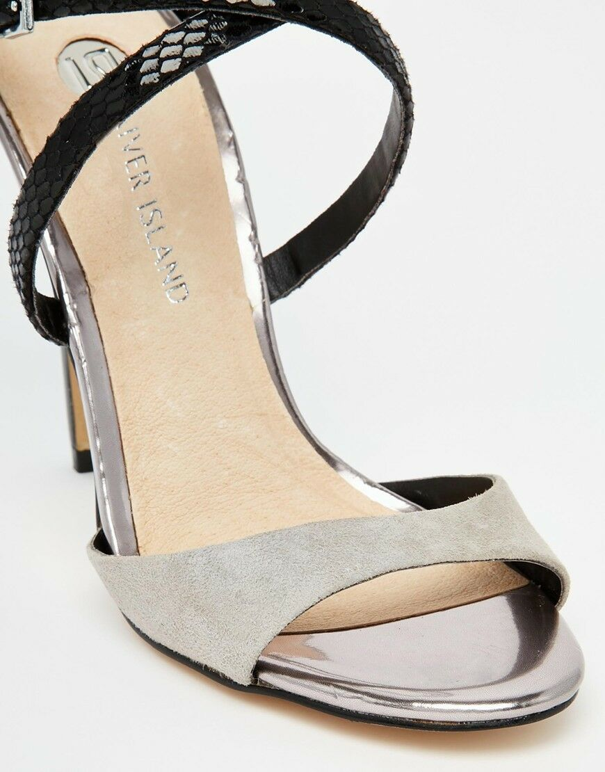 RIVERISLAND RIVERISLAND RIVERISLAND COLOUR BLOCK BARLEY THERE HEELED SANDALY Dimensione39 995f8e