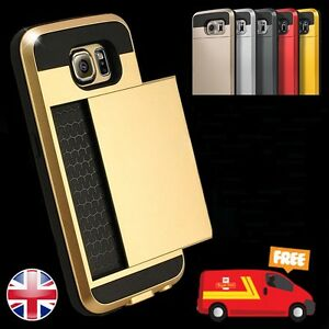 New-Slim-Card-Shock-Proof-Hybrid-Wallet-Case-Cover-Tough-Hard-For-Mobile-Phone