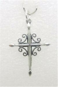 James avery retired sterling silver scroll cross pendant lb c1823 image is loading james avery retired sterling silver scroll cross pendant aloadofball Gallery