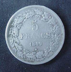 Munt België/Belgique: 5 F 1849 (zilver)
