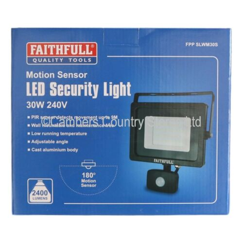 NEW Faithfull Wall Light Floodlight With Or Without PIR Motion Detector Choice