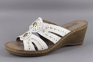 3472c7494133 Good For The Sole Womens Goldie UK 7 EU40 White Leather Wedge ...