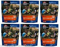 6 - Mountain House Freeze Dried Food Pouches - Sweat & Sour Pork With Rice