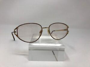 Vintage-Luxottica-Eyeglasses-G576-BROWN-BLACK-Design-Metal-Frame-52-17-130-T394