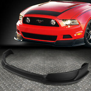 FOR 2013-2014 FORD MUSTANG GT STYLE ABS FRONT BUMPER LIP LOWER SPOILER BODY KIT