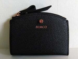 uk availability de1f7 f2f4f Details about Mimco BLACK SUBLIME CARD WALLET