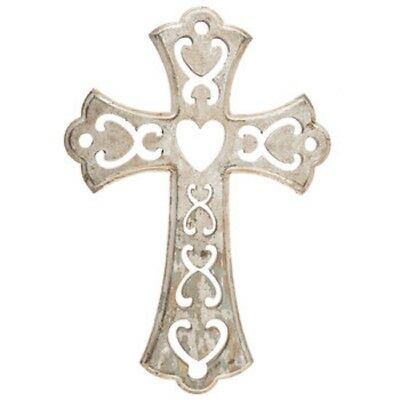 Carved Heart & Scroll Cross Wall Decor, Bless your home | eBay