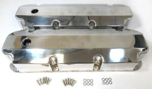 Aluminum-Polished-Fabricated-Big-Block-Ford-Tall-Valve-Covers-429-460-with-Hole