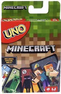 Uno-Minecraft-juego-de-cartas-Mattel-Games-112-tarjetas-Regalo-Perfecto-juego-de-la-familia