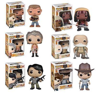 Walking Dead Funko Pop CARL DARYL MICHONNE CAROL HERSHEL Action Figure  a F01