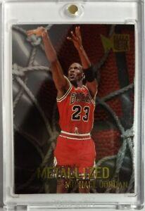 1996-96-97-Fleer-Metal-Metallized-Michael-Jordan-128-Sharp-Chicago-Bulls-HOF