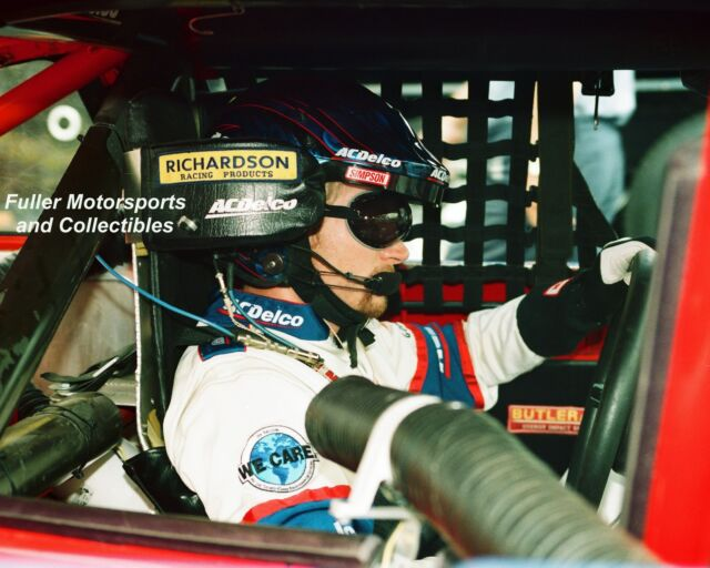DALE EARNHARDT JR #3 AC DELCO CHEVY IN-CAR 1999 NASCAR BUSCH SERIES 8X10 PHOTO
