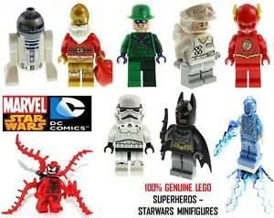 Genuine-LEGO-DC-Marvel-Super-Heroes-amp-Star-Wars-Minifigures-Split-From-Sets