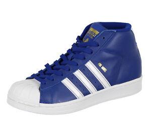 Adidas Ragazzi pro Model Medio Top Scarpe Misura 4Y Blu