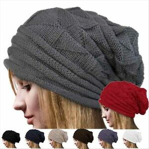Ladies-Womens-Soft-Warm-Winter-Knitted-Slouch-Oversize-Long-Fashion-Beanie-Hat