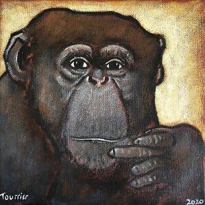 Tableau-Singe-Chimpanze-Tourrier