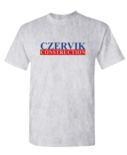 Unisex Cotton T-Shirt Tee Shirt CZERVIK CONSTRUCTION