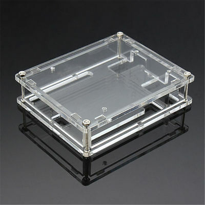 Transparent Acrylic Case Shell Enclosure Computer Box For Arduino UNO R3 Z