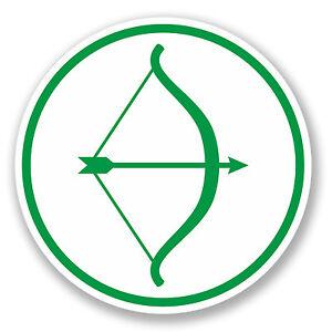 Car Tablet Vinyl Decal Robin Hood Archery Bow and Arrow