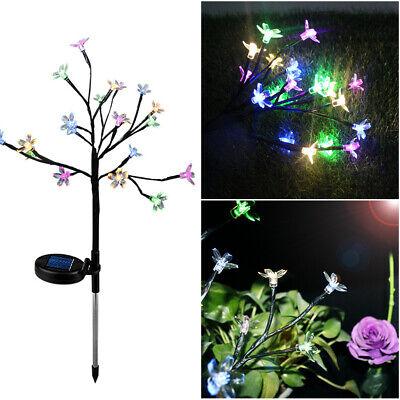 Lumière DEL Extérieur Jardin Cour Pelouse Paysage Lampe Énergie solaire Cherry Flower