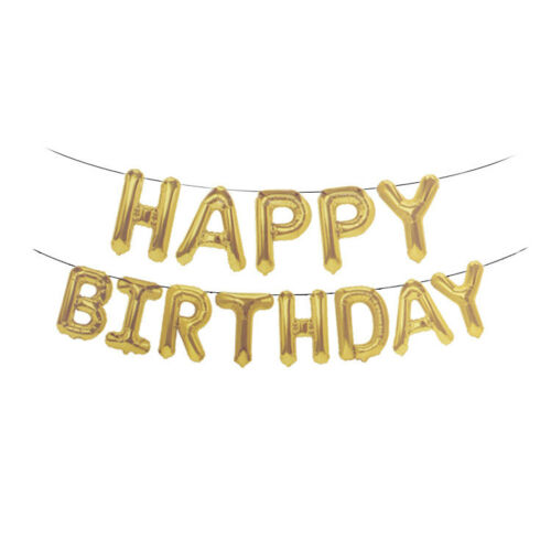 Big HAPPY BIRTHDAY SELF INFLATING BALLOON BANNER BUNTING PARTY DECORATION