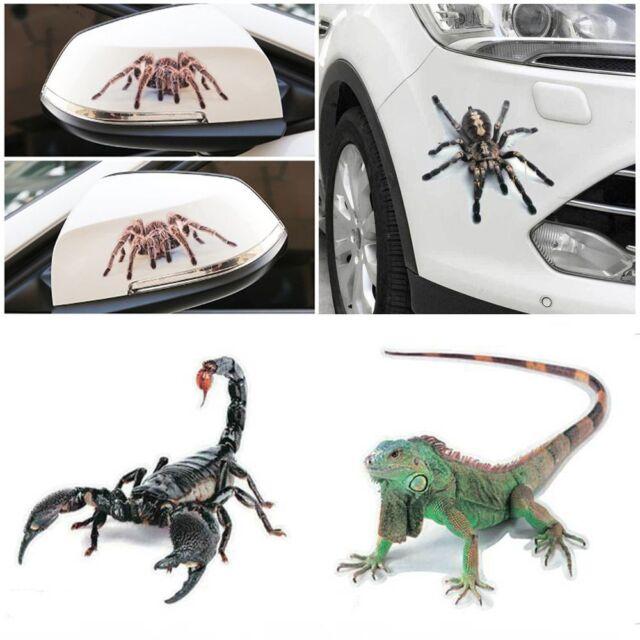 3D Crawling Spider Scorpion House Lizard Car Sticker Window Hood Decal Cool