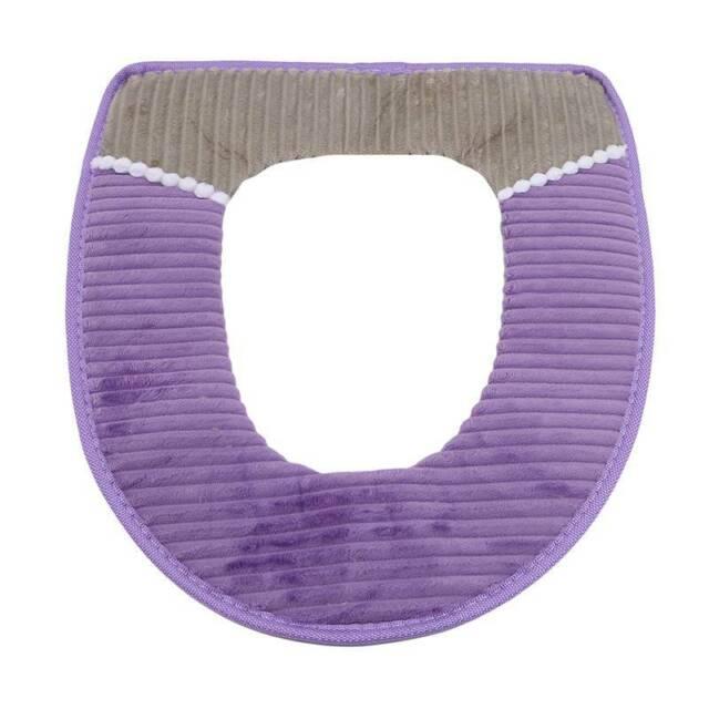 Cover Seat Bathroom Cushion Closestool Toilet Soft Pad Washable Warmer Mat DD