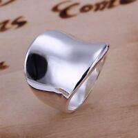 beautiful Fashion 925 Sterling silver Plated MEN Women Thumb Ring R52