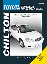 Repair Manual Chilton 68303 fits 03-11 Toyota Corolla