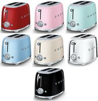 Smeg Retro Style 2 Slice Toaster 950w Electric Choose From 7 Colors