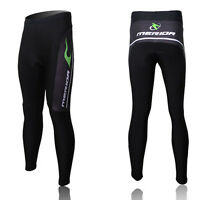 Long Cycling Pants Men's Padded Cycling Tights Bike Bicycle Coolmax Pants Green
