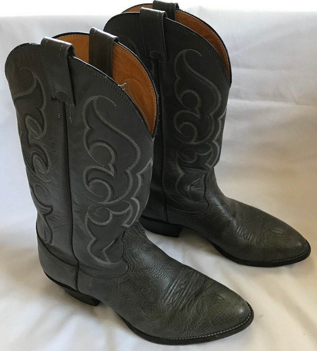 Nocona 83432 Gray Leather Western Riding Bronco Rodeo Cowboy Boots Men's 9.5 D