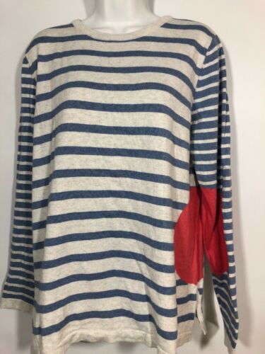Lisa todd XL Striped Blue Sweater