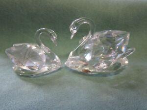 Swarovski-Figur-2-Schwaene-Schwanenpaar-H-5-cm-Schwan-Kristall-crystal-swan-26185