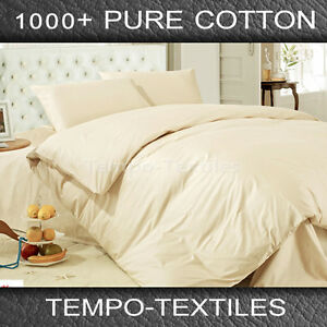 IVORY-Queen-Size-1000TC-100-Egyptian-Cotton-Sheet-Set-Fitted-Flat-Pillowcase