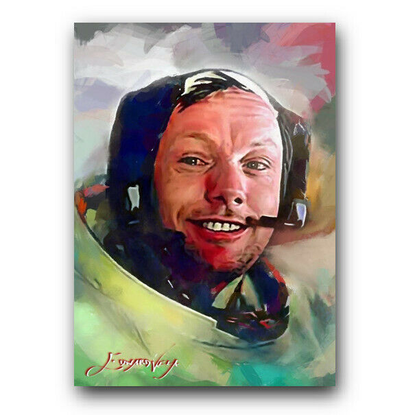 Neil Armstrong #7 Sketch Card Limited 1/50 Edward Vela Signed on eBay thumbnail