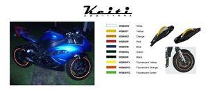 Keiti Additions Motorcycle Rim Wheel Stripe Kit BLUE Yamaha R1 R6 Raven