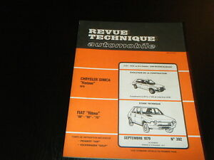 REVUE-TECHNIQUE-AUTOMOBILE-RTA-N-FIAT-RITMO-60-65-75