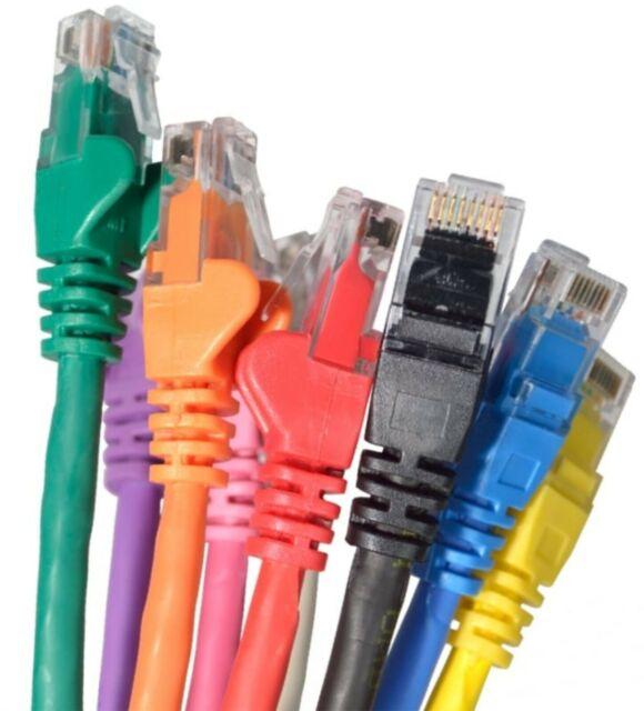 Câble Ethernet Cat6 Rapide Réseau RJ45 LAN Patch Lead 0.12 m à 40 m lot