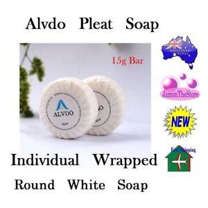 Alvdo Pleat Soap Guest Soap Individual Wrap Hotel Motel 15g Bathroom Amenities