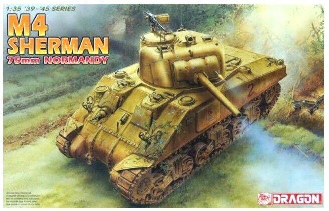 DRAGON 6511 1 35 U.S M4 Sherman 75mm Normandy Tank