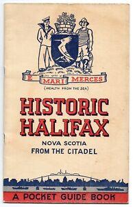 1949-Souvenir-Guide-Book-of-Historic-Halifax-Nova-Scotia-Illustrated-Map