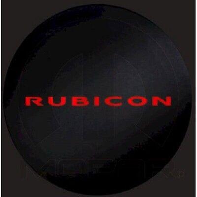 NEW JEEP WRANGLER RUBICON SPARE TIRE COVER RUBICON IN RED MOPAR OEM 82213743