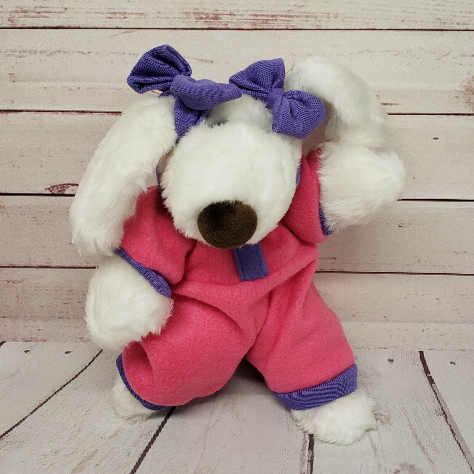 Ertl lemutt le Mutt 12  Cher Perro rosado Púrpura Outfit 1997 Peluche