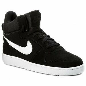 NIKE-COURT-BOROUGH-MID-Men-039-s-Black-White-Sneakers-838938-010