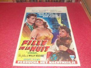 Cinema Plakat Original Belgisches - Mädchen La Nuit (L' Wrack ) Fr. .
