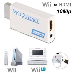 wii to hdmi converter adapter full hd 1080p video hdmi av multi out plug ebay. Black Bedroom Furniture Sets. Home Design Ideas